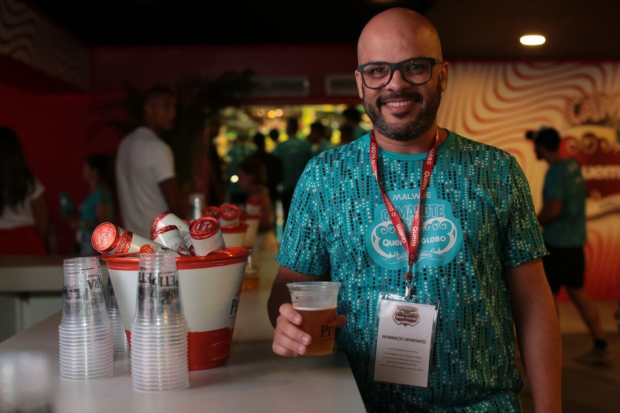 Para o administrador Eduardo Nunes, a Petra Origem se encaixou perfeitamente ao carnaval carioca. (Foto: Divulgação)