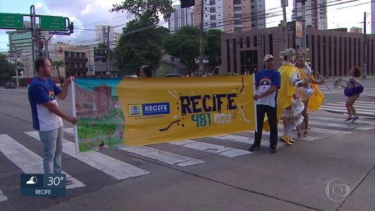Recife e Olinda iniciam celebrações de aniversário com frevo e atividades culturais