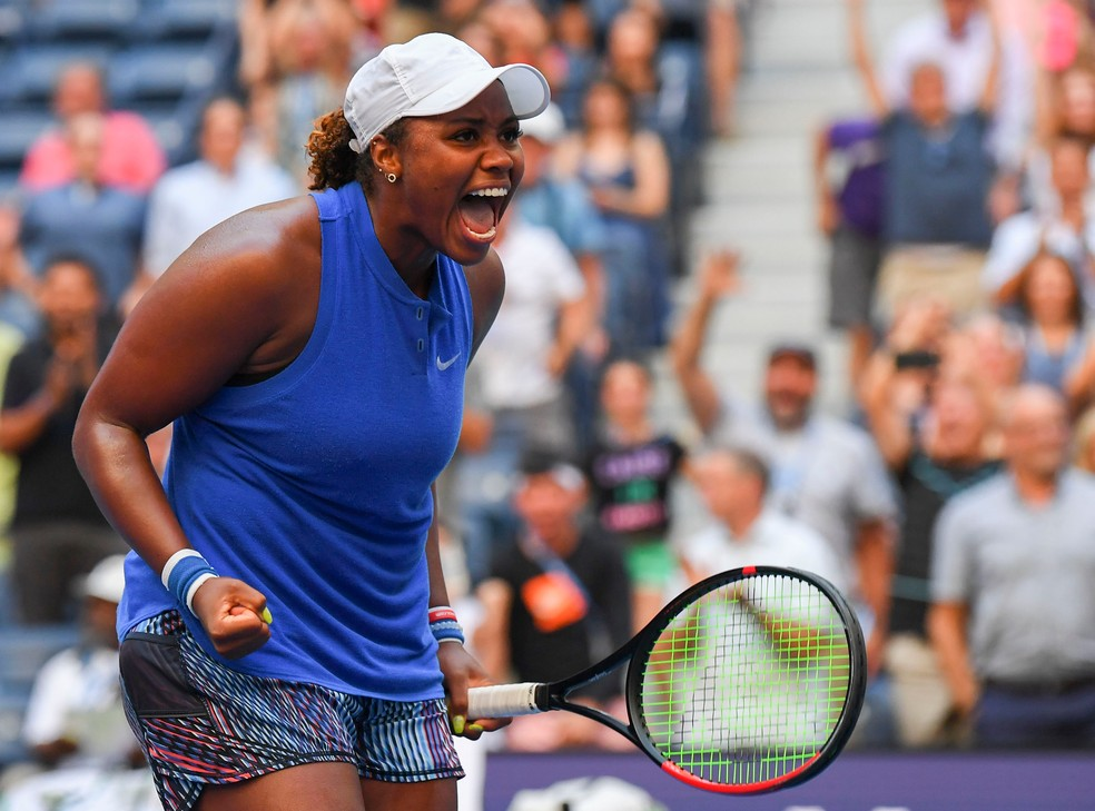 Taylor Townsend em ação no US Open de 2019 — Foto: Reuters