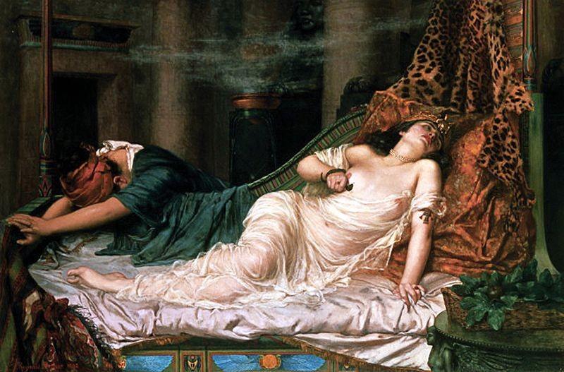 Quadro que retrata a morte de Cleópatra (Foto: Divulgação)