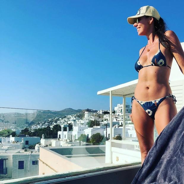 Glenda Koslowski: fim de férias (Foto: Reprodução Instagram)