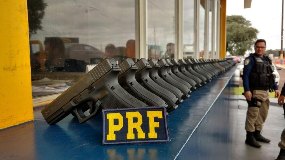 277 armas foram apreendidas (Foto: PRF/Divulgação)