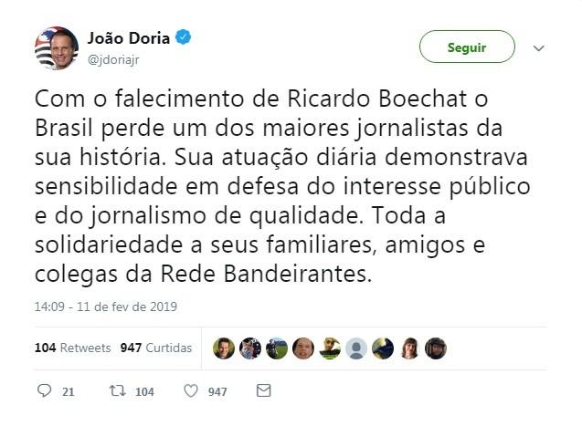 Joao Doria (Foto: Reprodução)