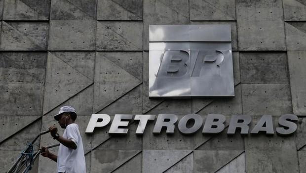 Logo da Petrobras em sede no Rio de Janeiro (Foto: Ricardo Moraes/Reuters)