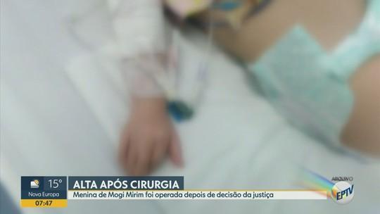 Criança recebe alta do HC da Unicamp após cirurgia para tratar refluxo e hérnia de hiato