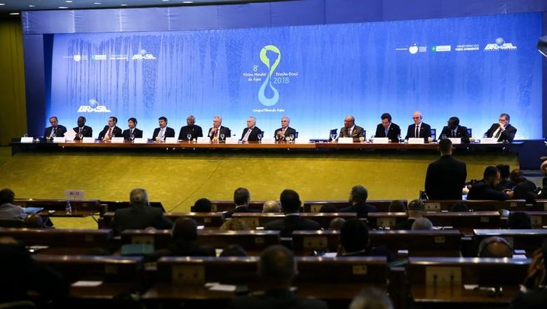 8º fórum mundial da água-abertura-brasília (Foto: Marcelo Camargo/Agência Brasil)