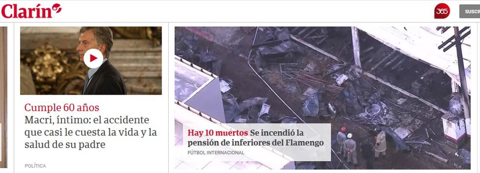 Clarín — Foto: Reprodução
