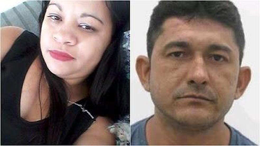 Antonia Sousa Silva, de 35 anos e Francisco Vanderlan Mesquita Gomes, suspeito do crime, haviam terminado o relacionamento há um mês. — Foto: Arquivo pessoal
