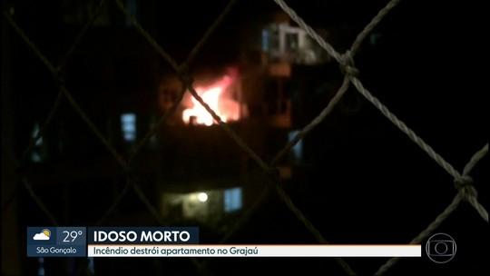 Idoso morre após incêndio em apartamento na Zona Norte do Rio