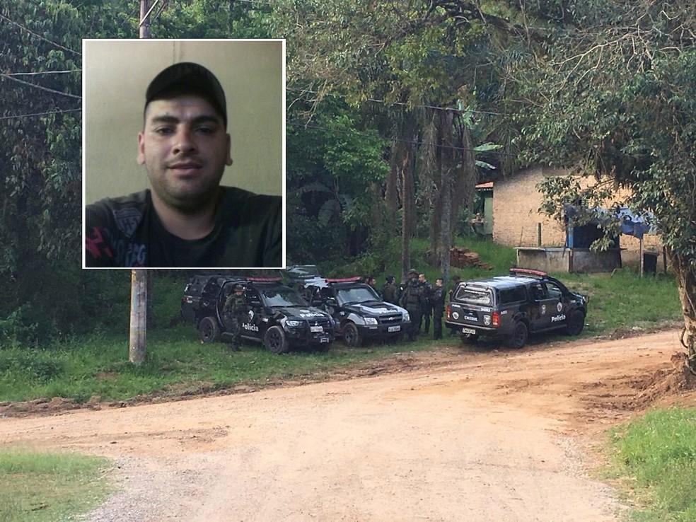 Suspeito de matar a filha a facadas é procurado na região de São Roque — Foto: Reprodução/Facebook - Priscila Mota/TV TEM