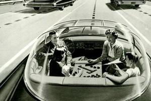Carro autônomo do futuro dos anos 1950