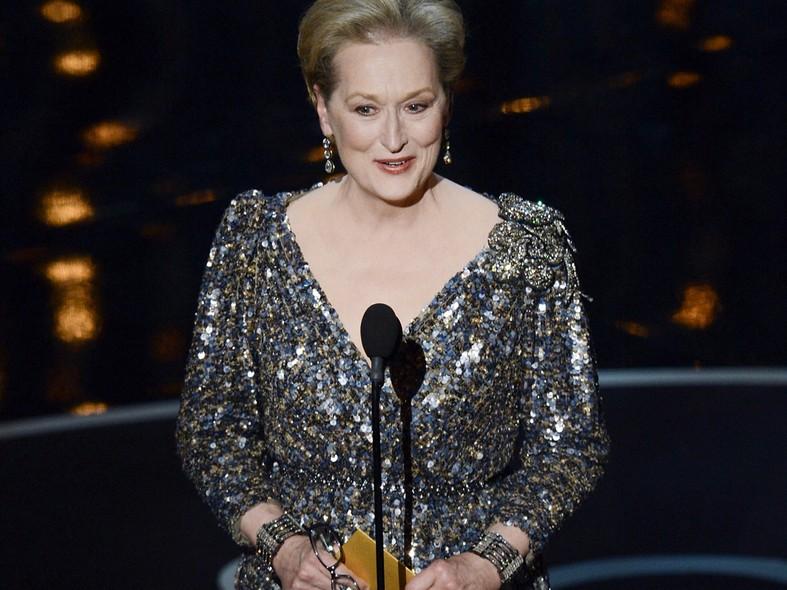 Em 2013, Meryl Streep ajudou a apresentar as categorias do prêmio, mas não foi indicada.