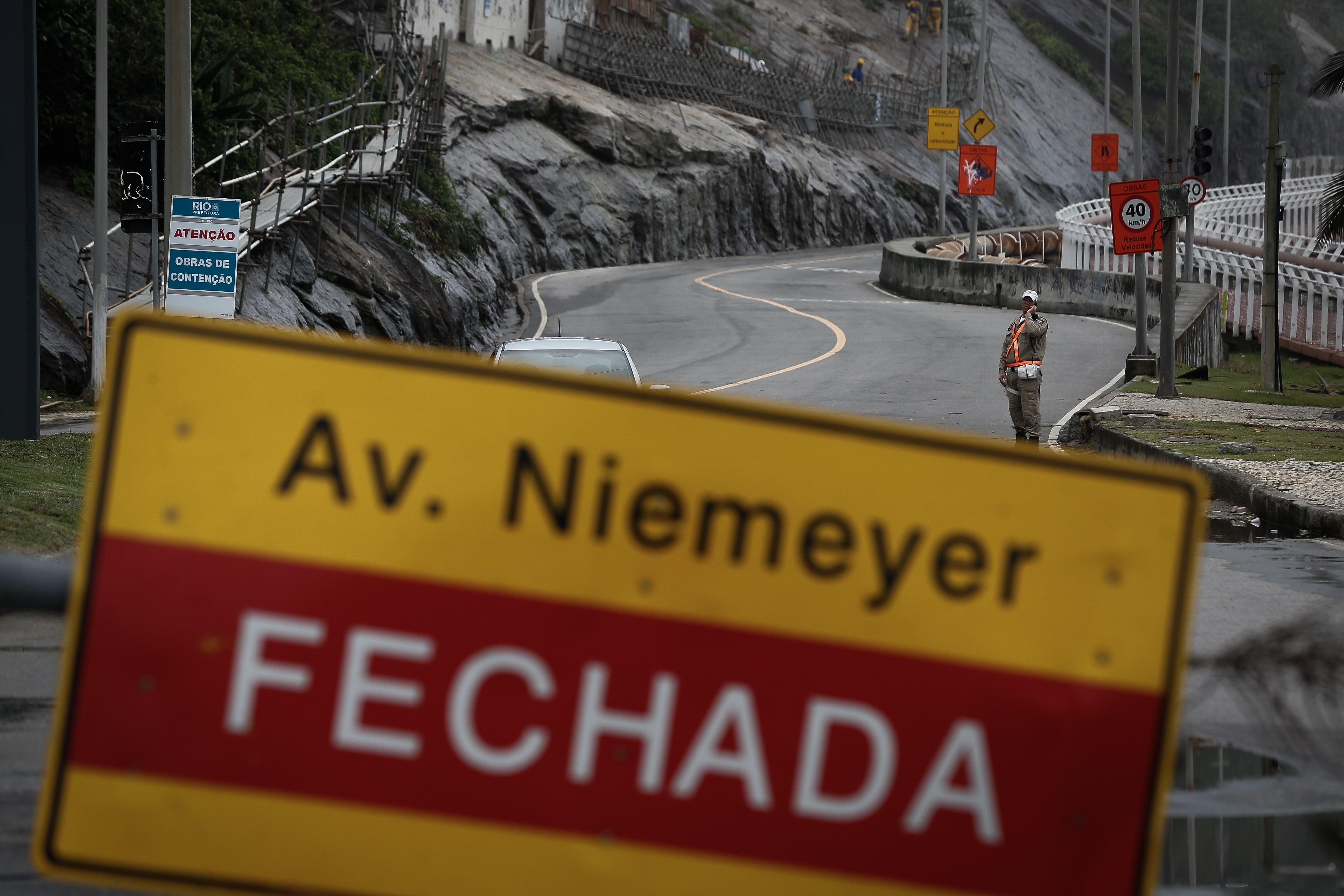 Avenida Niemeyer está fechada desde o dia 28 de maio