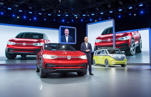 Volkswagen apresenta o crossover elétrico I.D-Crozz no Salão de Frankfurt (Foto: Divulgação)