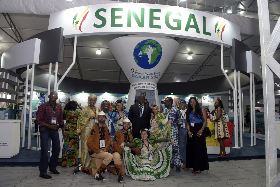 Estande do Senegal, país que vai sediar 9ª edição do fórum (Foto: Sergio Amaral/8º FMA)