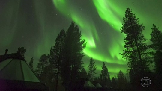 Aurora boreal foi registrada na Finlândia nesta madrugada
