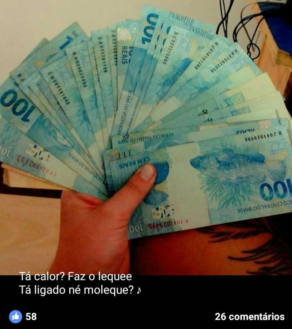 Segundo a Polícia Civil, os três ostentavam suposto lucro com furtos nas redes sociais (Foto: Polícia Civil/Divulgação)