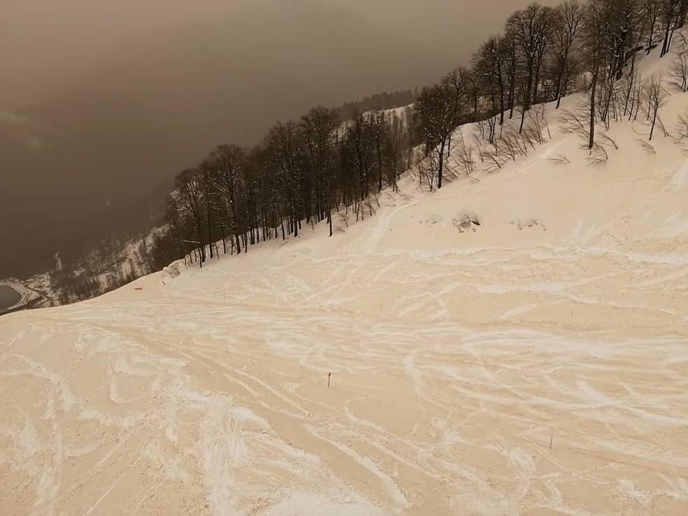 Areia misturada com neve está por trás do fenômeno (Foto: Margarita Alshina)