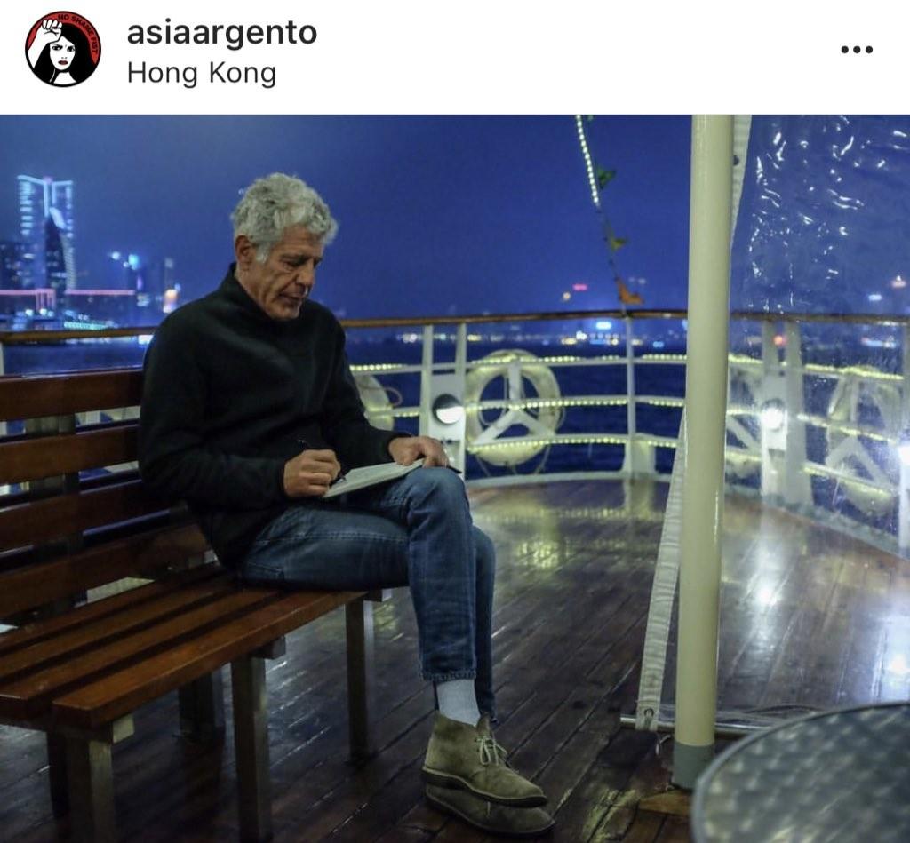 Imagem de Anthony Bourdain publicada por Asia Argento e compartilhada por Rose McGowan em homenagem ao chef (Foto: Reprodução instagram)