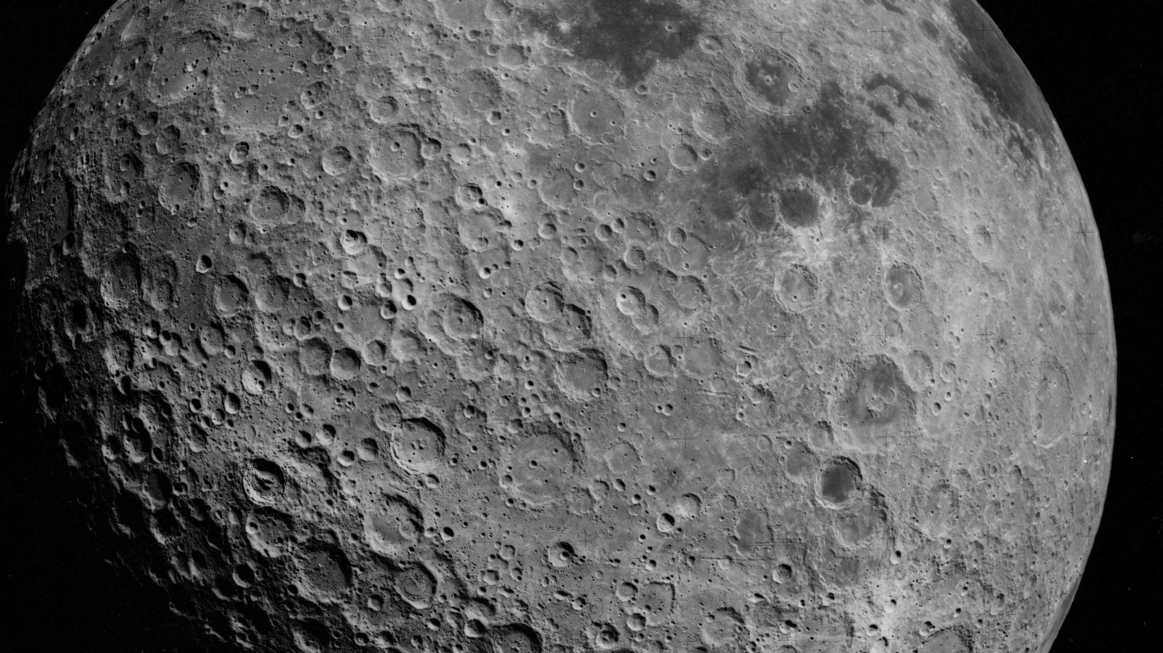 Uma das faces da Lua (Foto: Divulgação/NASA)