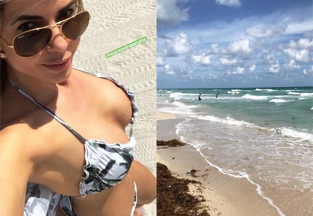 Cacau Colucci curte praia de Miami (Foto: Reprodução/Instagram)