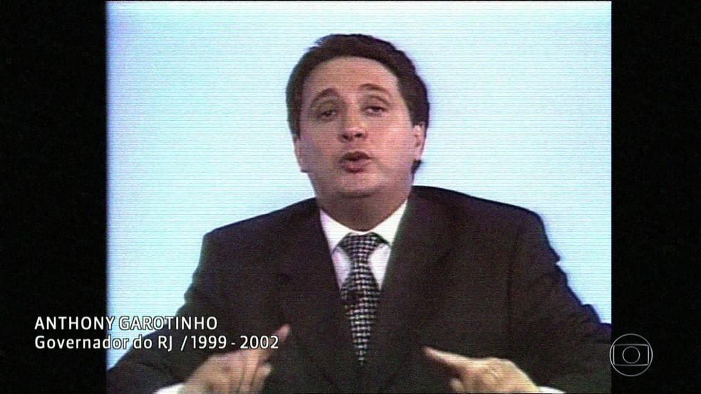 Garotinho quando era governador do Rio (Foto: Reprodução/Acervo/Globo)