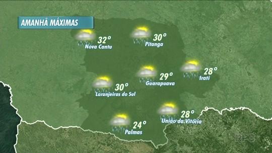 O tempo ainda deve ficar instável amanhã na nossa região