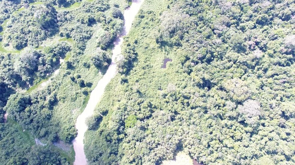Operação da PF mira grupo que desmatou terra indígena e desocupa garimpo ilegal em Pontes e Lacerda — Foto: Polícia Federal de Mato Grosso