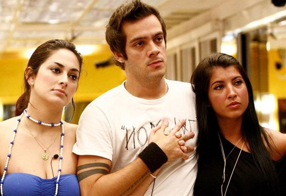 Francine, Max e Priscila no 'BBB9' — Foto: TV Globo