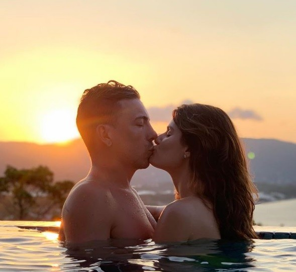 O casal em Floripa (Foto: Instagram)
