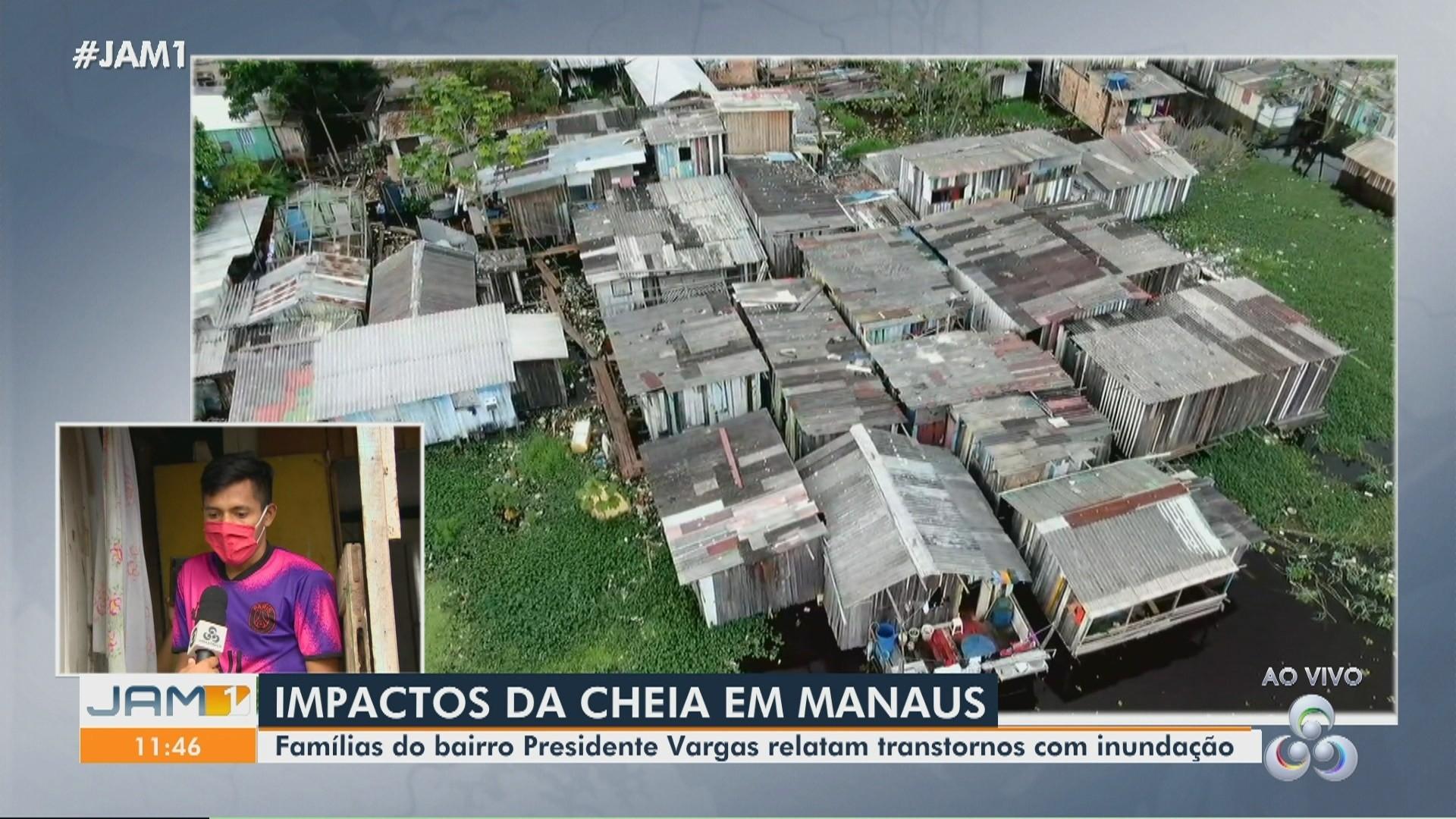 VÍDEOS: Famílias relatam transtornos com inundação em Manaus; Veja destaques do JAM1