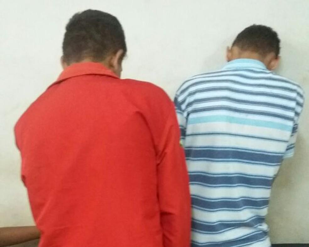 Dupla é presa suspeita de participação em morte de deficiente mental em Macaíba (Foto: Divulgação/Polícia Civil)