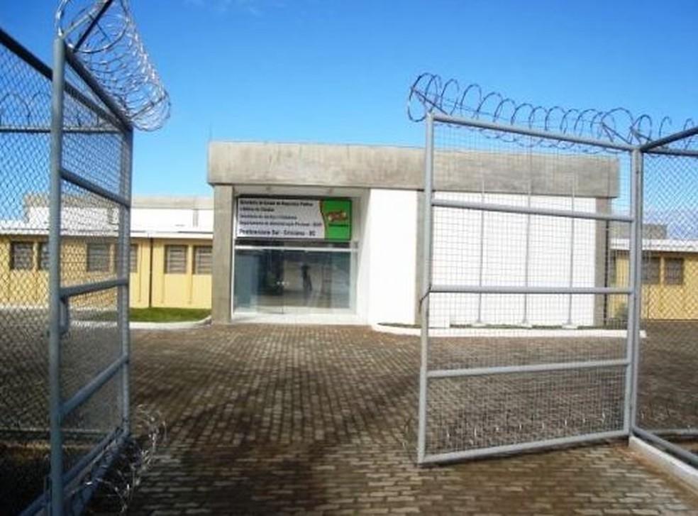 Penitenciária Sul em Criciúma (SC) — Foto: Departamento de Administração Prisional/Reprodução