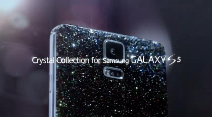 O Galaxy S5 ganha versão com cristais Swarovski (Foto: Reprodução/Samsung)