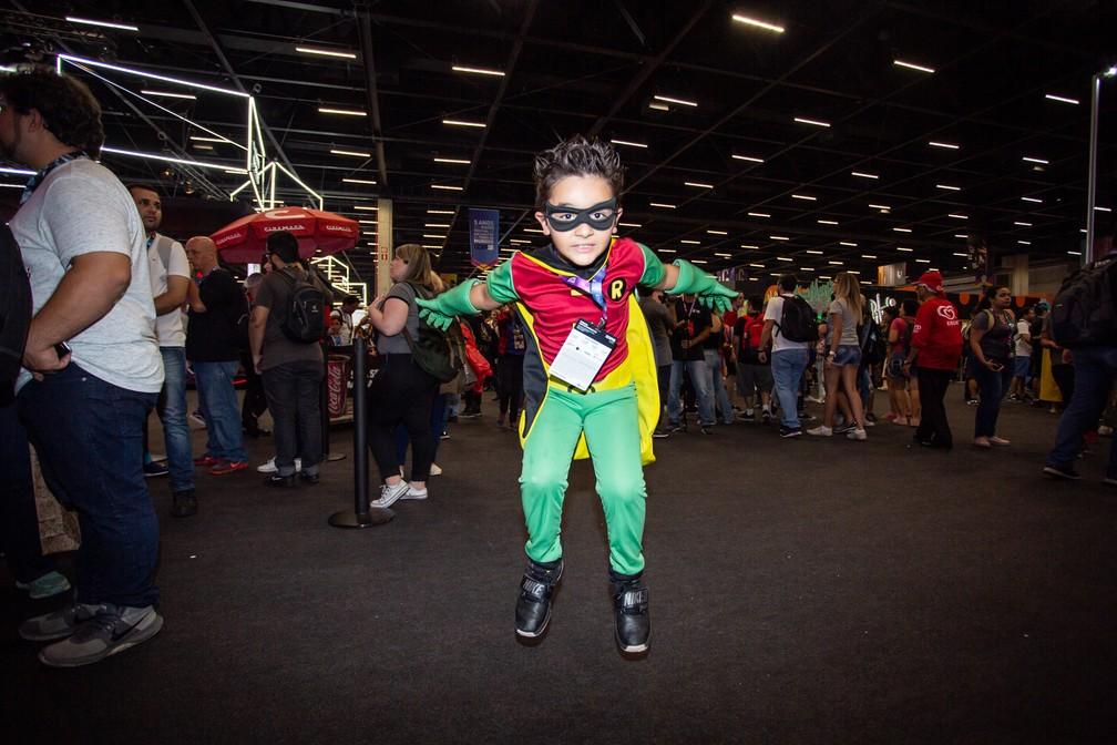 Pequeno Robin na CCXP 2018 — Foto: Fabio Tito / G1