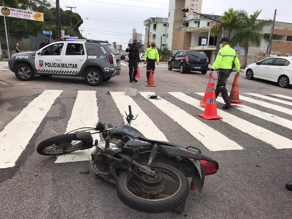 Acidente ocorreu na manhã desta quarta — Foto: Ayrton Freire/Inter TV Cabugi