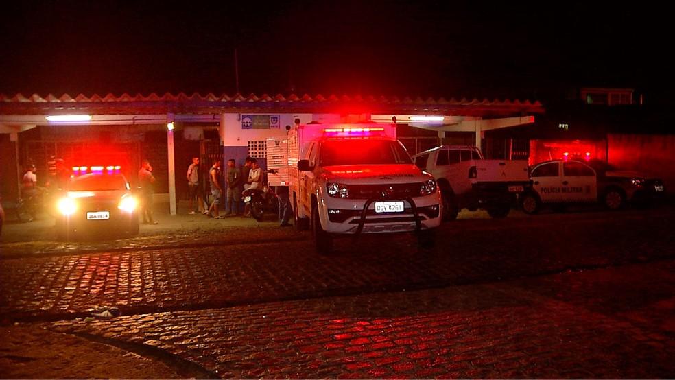 Crime aconteceu dentro da estação de trem do bairro Cidade Nova (Foto: Reprodução/Irã Evangelista/Inter TV Cabugi)