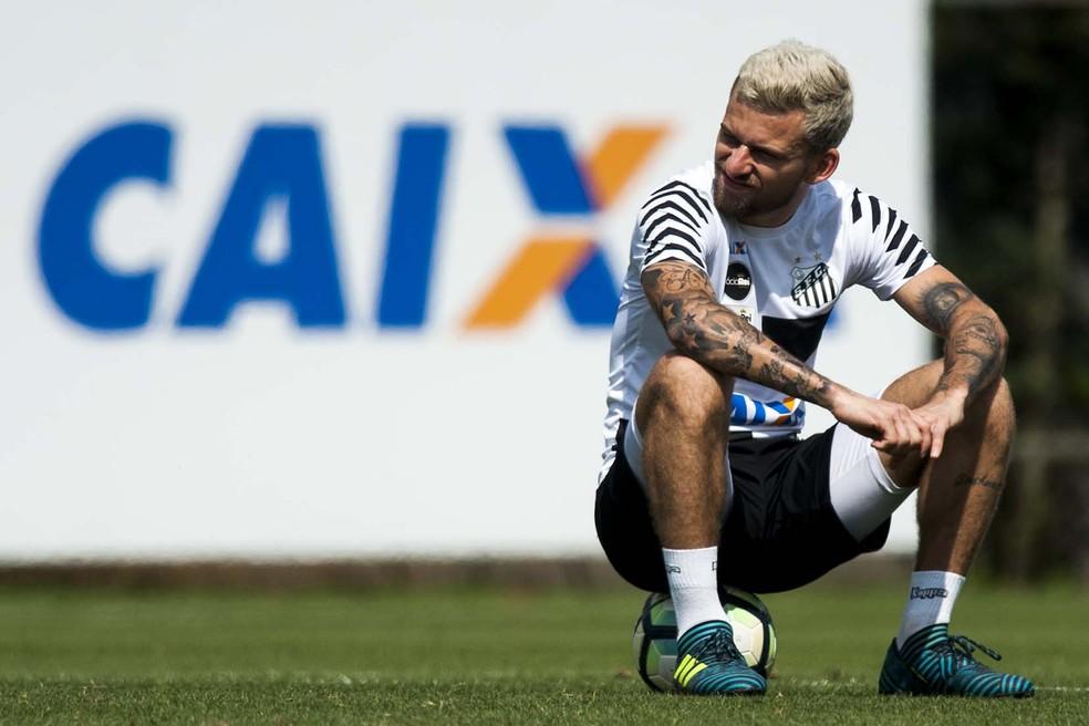 Lucas Lima tem caminho livre para fechar com o Palmeiras, seu provável destino (Foto: Ivan Storti/Santos FC)