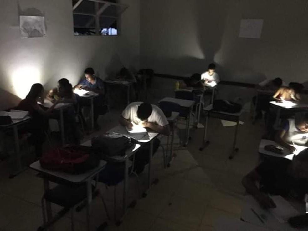 As notas das avaliações aplicadas foram todas boas, segundo o professor — Foto: Fernando Henrique Garcia/Arquivo pessoal