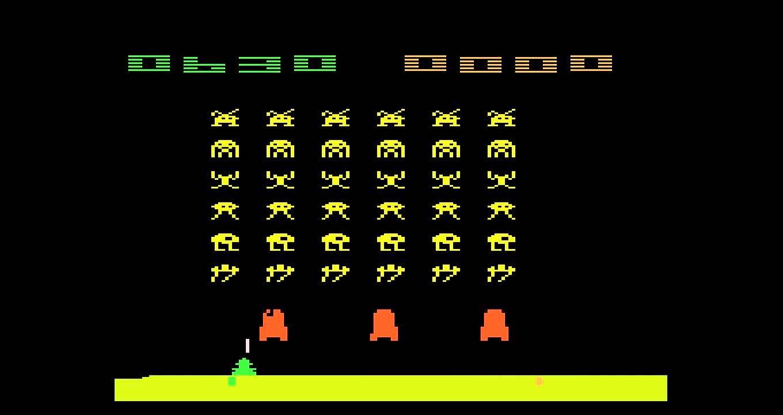 Tela do game 'Space Invaders' (Foto: Reprodução)
