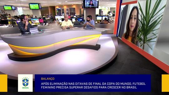 """""""Redação"""" analisa gestão da CBF no futebol feminino e jornalista critica: """"Beira o absurdo"""""""