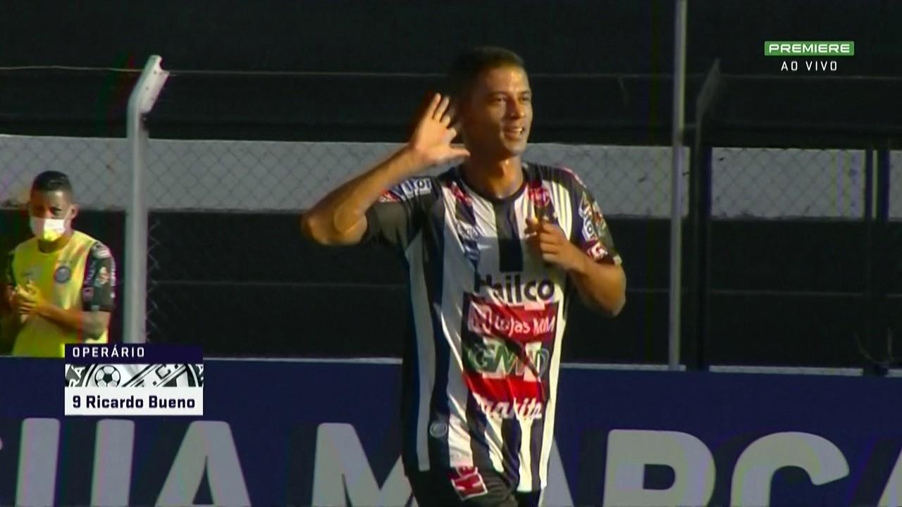 Ricardo Bueno marca na vitória do Operário-PR sobre o Náutico, por 3 a 1