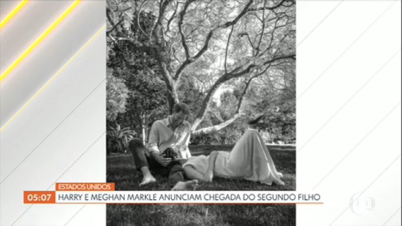 Casal Harry e Meghan Markle anuncia a chegada do segundo filho