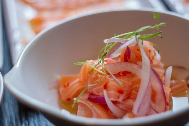 Receita de ceviche de salmão tradicional (Foto: Divulgação)