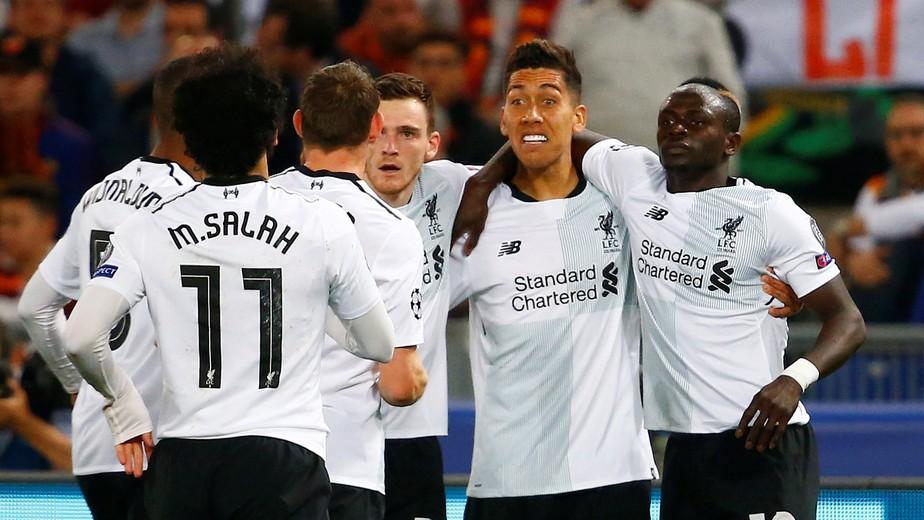 Salah, Firmino e Mané batem recorde de gols e carregam Liverpool para a final