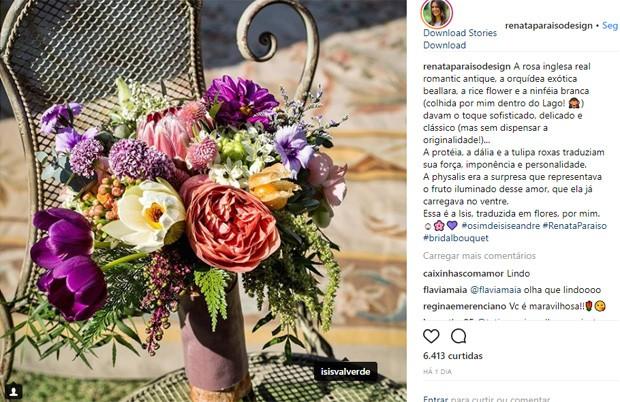 Renata Paraiso cuidou da decoração do casamento de Isis Valverde (Foto: Reprodução/Instagram)