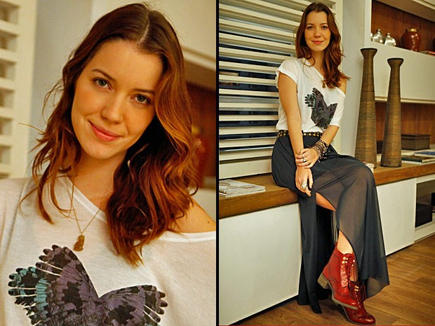 Nathalia Dill revela seus segredos de beleza (Foto: Avenida Brasil/TV Globo)