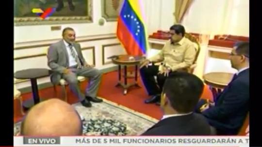 Encontro de senador brasileiro com Nicolás Maduro gera mal-estar no governo