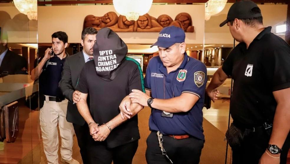 Wilmondes Sousa Lira no momento da detenção, em Assunção - Agência EFE