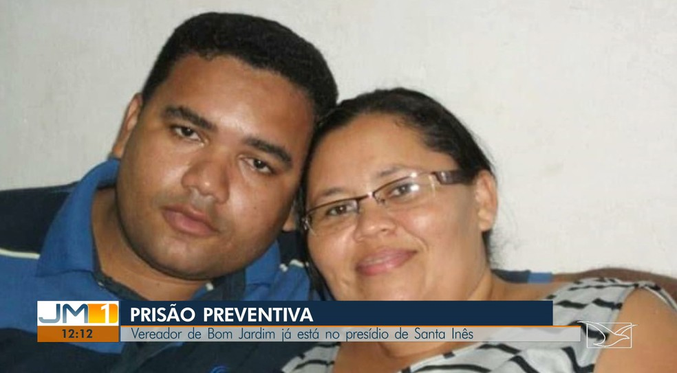 Antônio Cesarino e a esposa Ana Lídia Cesarino são suspeitos de desviar mais de R$ 100 mil dos cofres da Câmara de Vereadores de Bom Jardim (MA) — Foto: Reprodução/TV Mirante